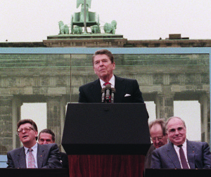 US President Ronald Reagan, commemoratin